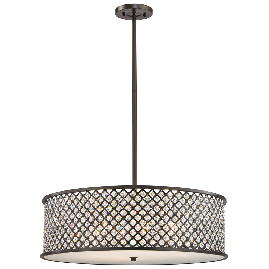 Genevieve 6-Light Chandelier in Oil Rubbed Bronze