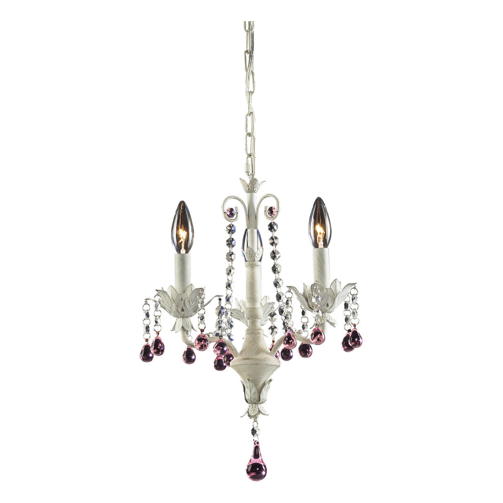 Elise 3-Light Chandelier in Antique White