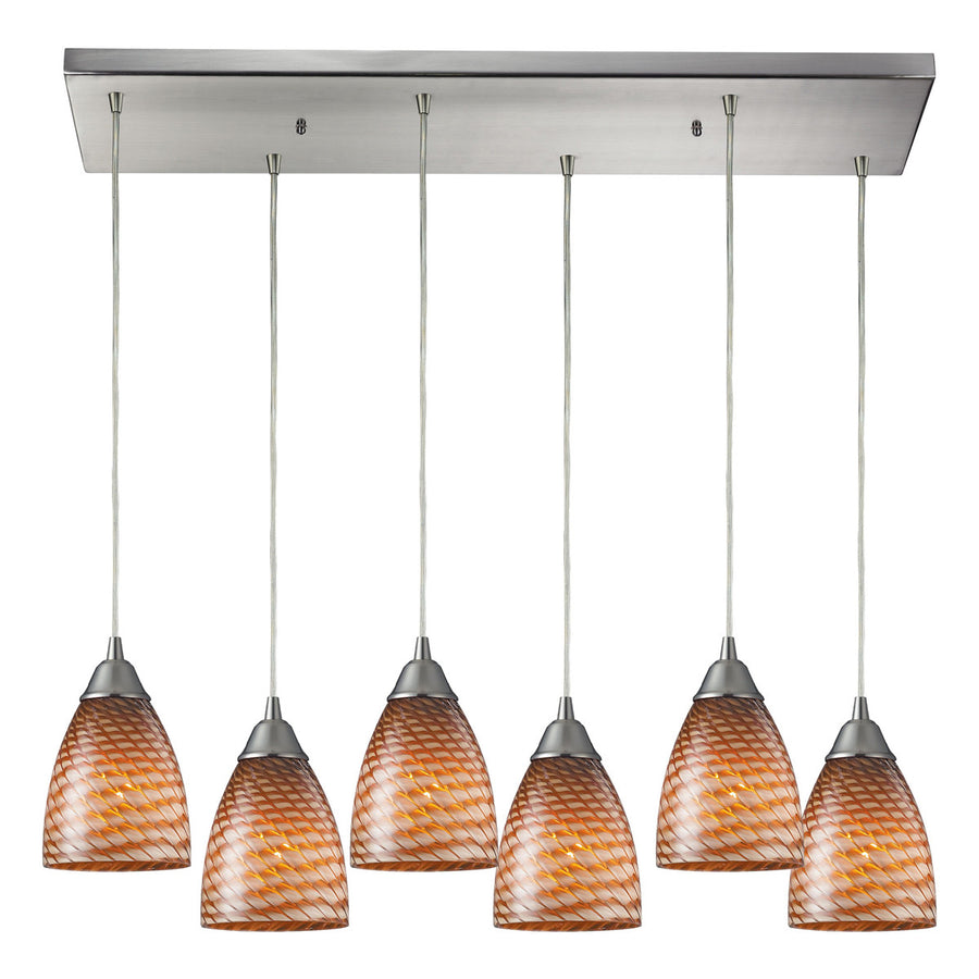 Arco Baleno 6-Light Satin Nickel Pendant