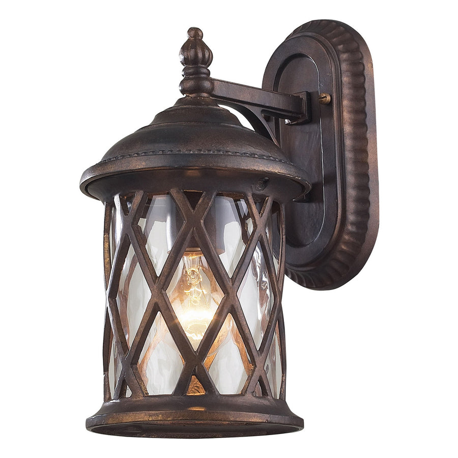 Barrington Gate 1-Light Outdoor Sconce in Hazlenut Bronze