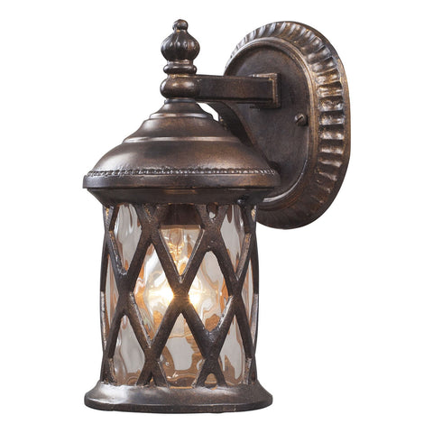 Barrington Gate 1-Light Outdoor Sconce in Hazelnut Bronze