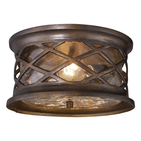 Barrington Gate 2-Light Outdoor Flush Mount in Hazelnut Bronze