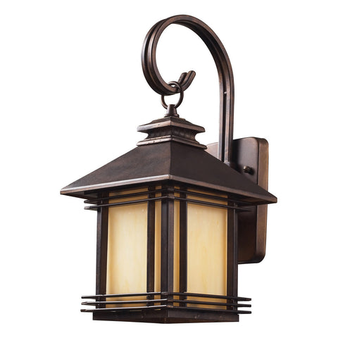 1-Light Outdoor Wall Sconce in Hazelnut Bronze