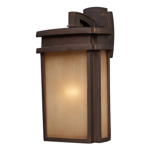 1-Light Outdoor Sconce in Clay Bronze