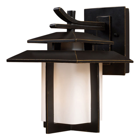 Kanso 1-Light Outdoor Sconce in Hazelnut Bronze