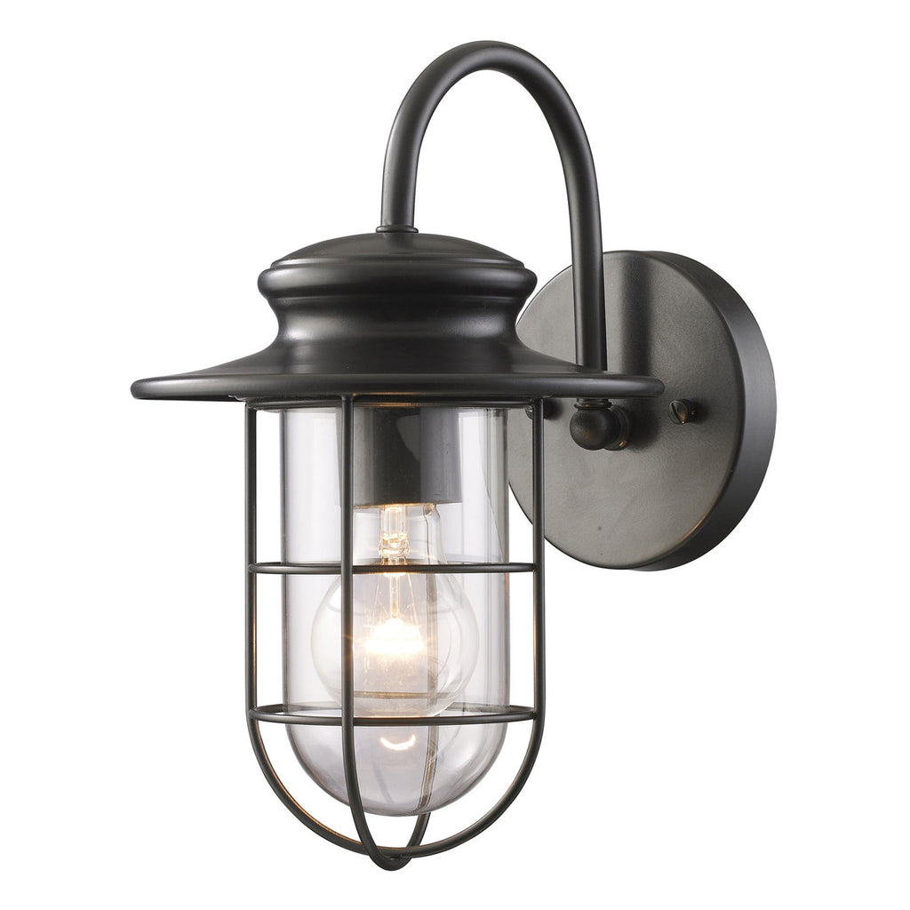 Portside 1-Light Outdoor Sconce in Matte Black