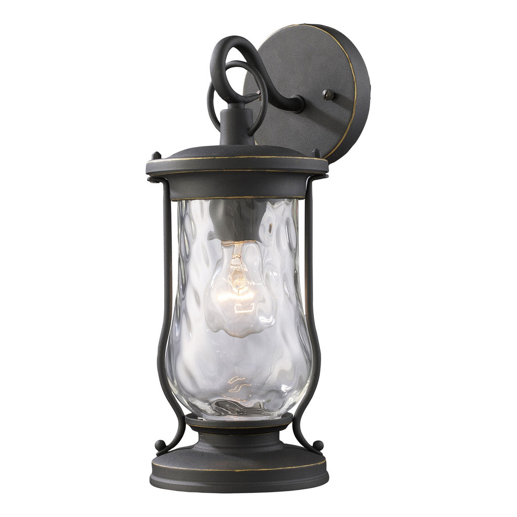 Farmstead 1-Light Outdoor Sconce in Matte Black