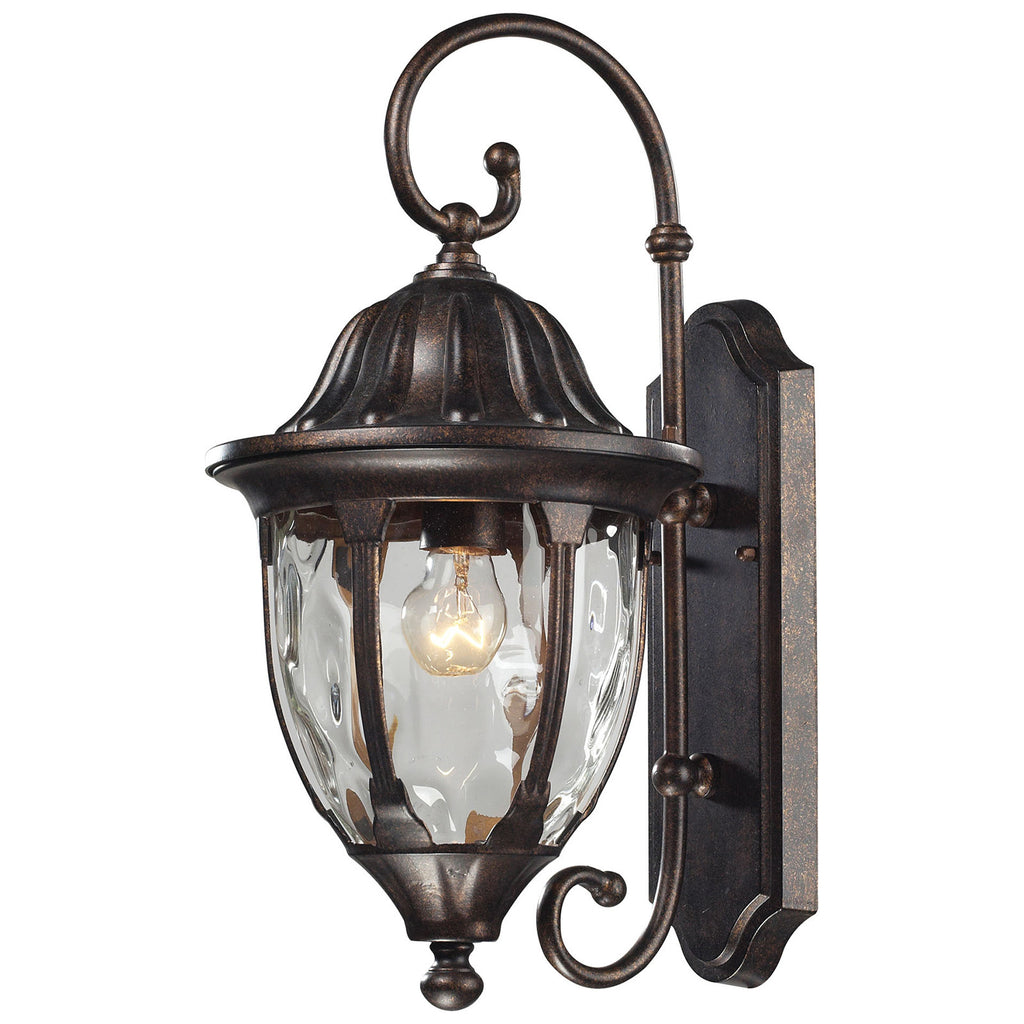 Glendale 1-Light Outdoor Wall Sconce in Regal Bronze