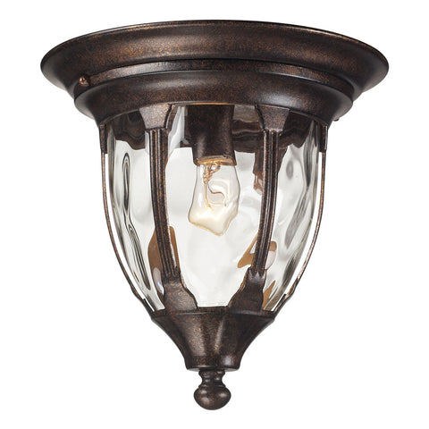 Glendale 1-Light Outdoor Flush Mount in Regal Bronze