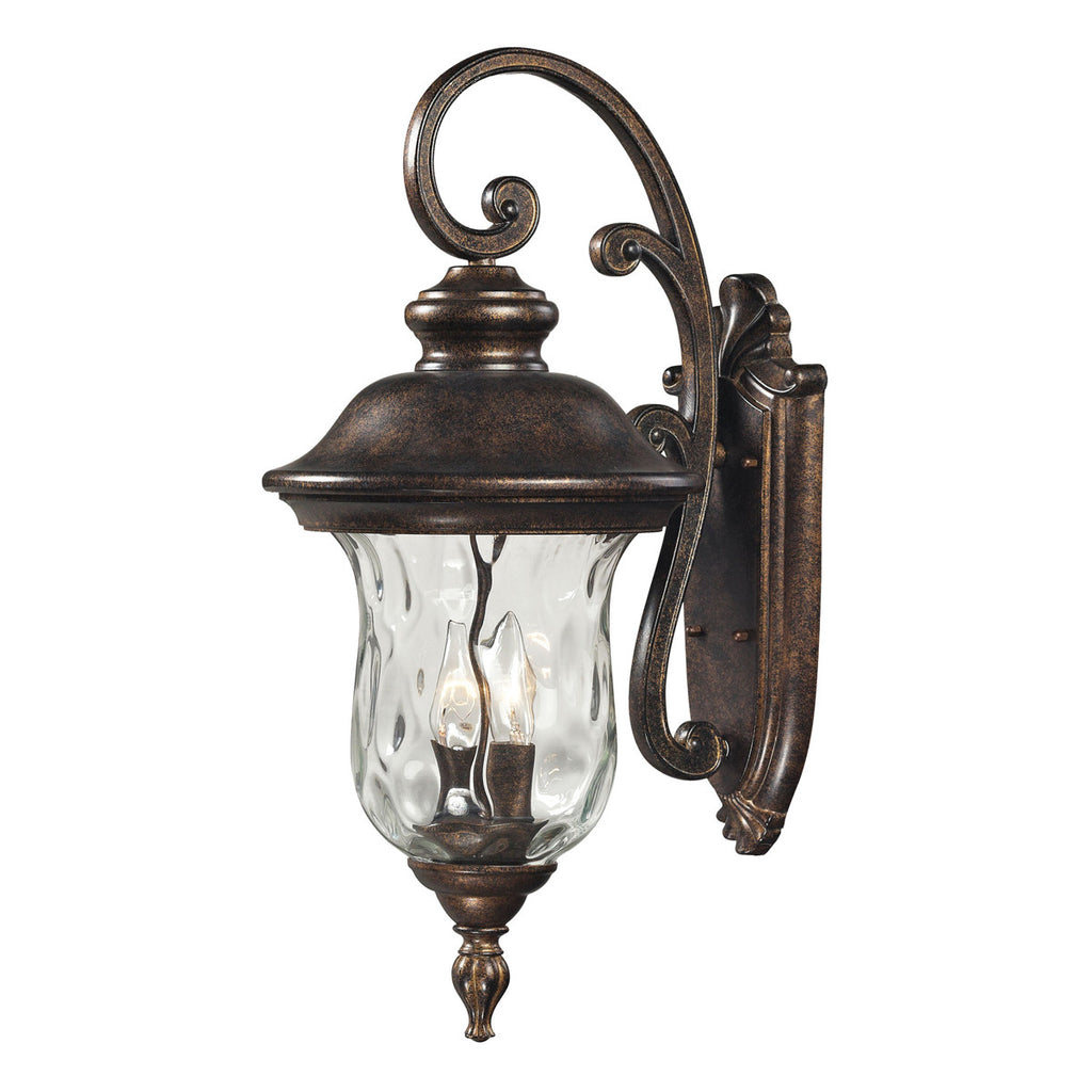 Lafayette 3-Light Outdoor Sconce in Regal Bronze