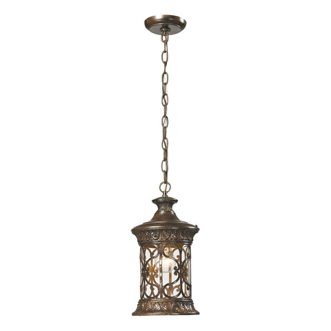 Orlean 1-Light Outdoor Pendant in Hazelnut Bronze