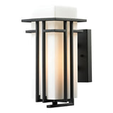 Croftwell 1-Light Textured Matte Black Outdoor Sconce