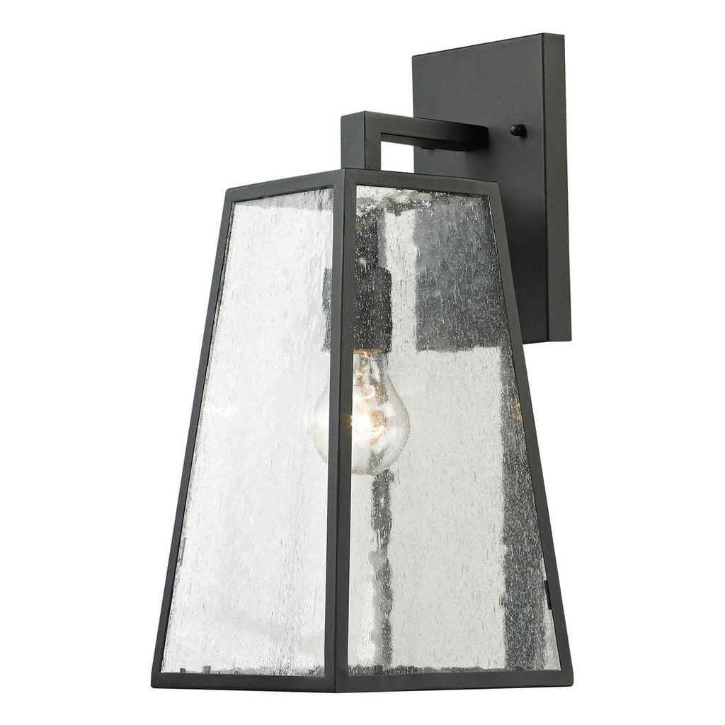 Meditterano 1-Light Outdoor Wall Sconce in Textured Matte Black