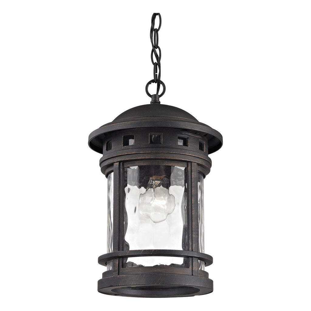 Costa Mesa 1-Light Outdoor Pendant in Weathered Charcoal