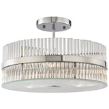 Nescott 3-Light Semi Flush in Polished Chrome