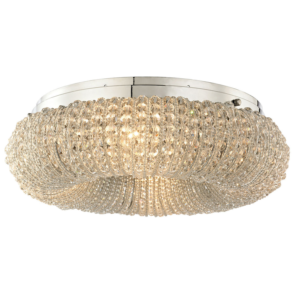 Crystal Ring 4-Light Semi Flush with Polished Chrome