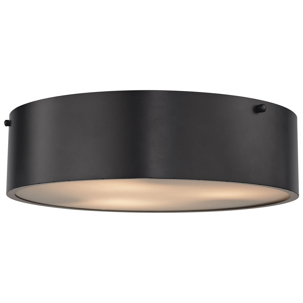 Clayton 3-Light Flush with Oil Rubbed Bronze
