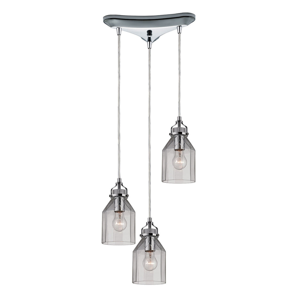 Danica 3-Light Chandelier in Polished Chrome
