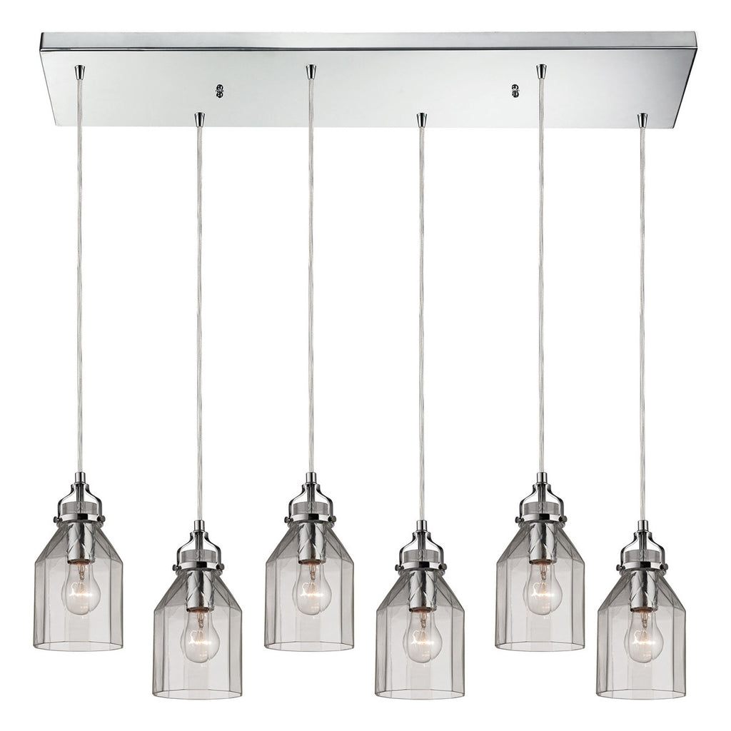Danica 6-Light Chandelier in Polished Chrome