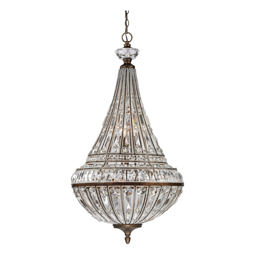 Empire 9-Light Pendant in Mocha