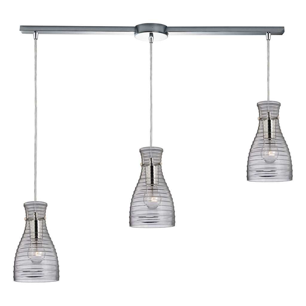 Strata 3-Light Chandelier in Polished Chrome