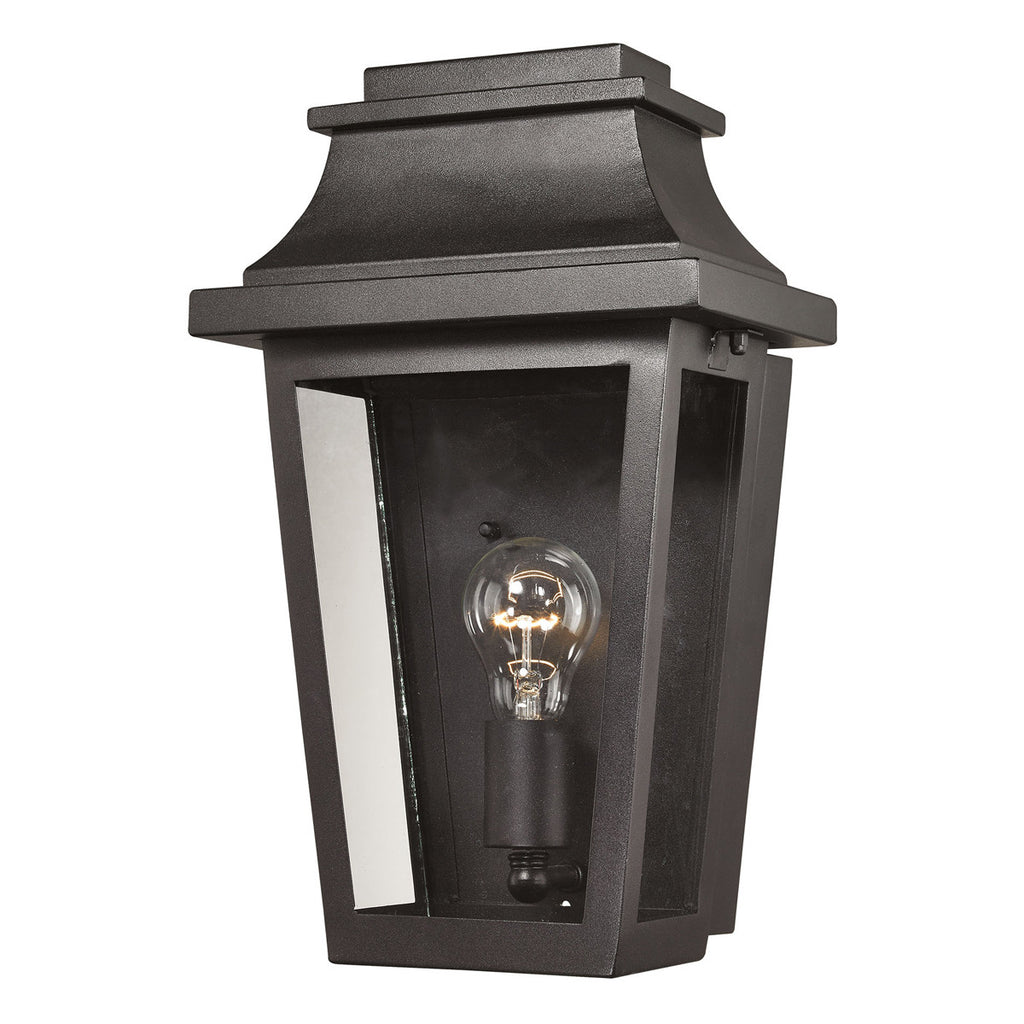 Covina 1-Light Outdoor Sconce in Matte Black