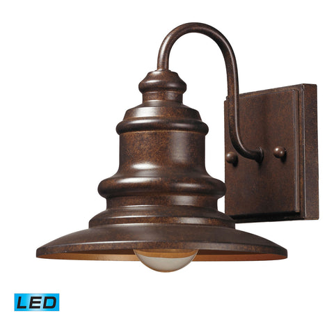Marina LED 1-Light Outdoor Sconce in Hazelnut Bronze