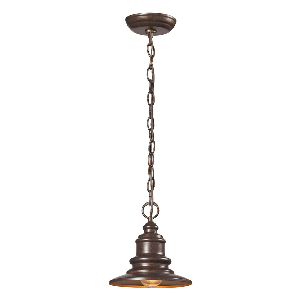 Marina 1-Light Hazelnut Bronze Outdoor Pendant