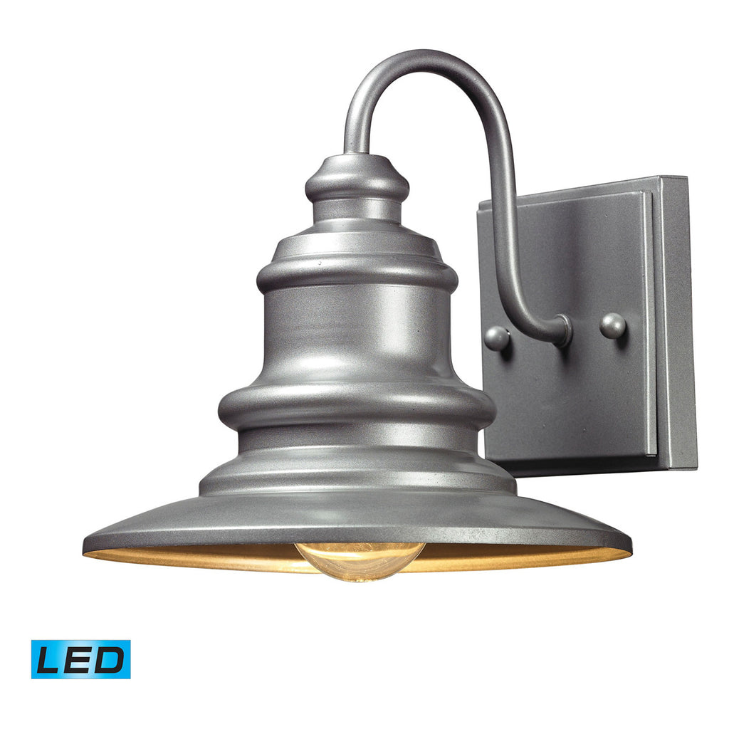 Marina LED 1-Light Outdoor Sconce in Matte Silver