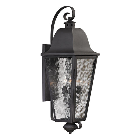 Forged Brookridge 4-Light Outdoor Sconce in Charcoal