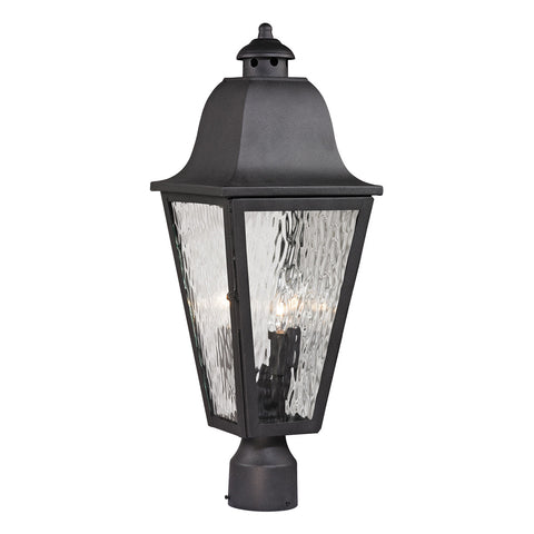 Forged Brookridge 3-Light Outdoor Post-Light in Charcoal