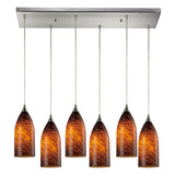 Verona 6-Light Satin Nickel Pendant