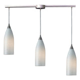 Cilindro Linear 3-Light Satin Nickel Pendant