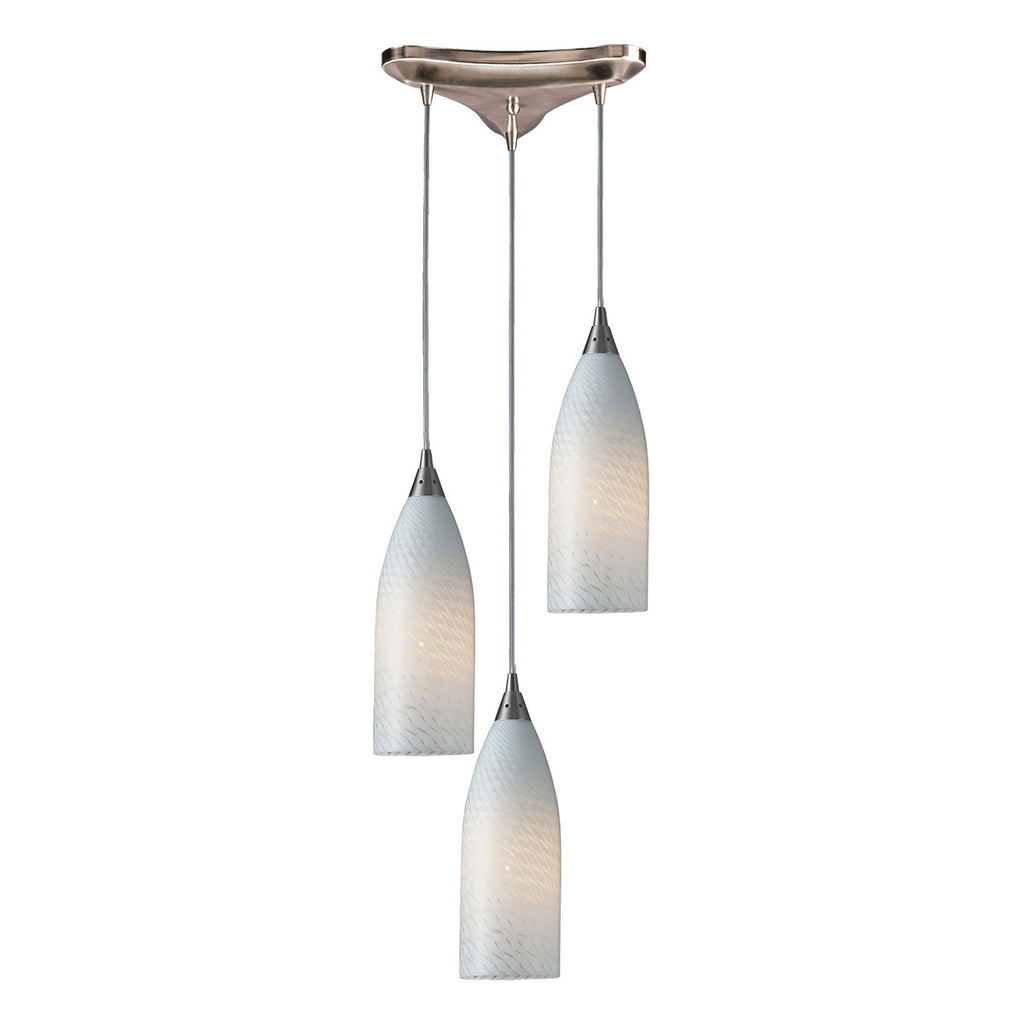 Cilindro 3-Light Satin Nickel Pendant