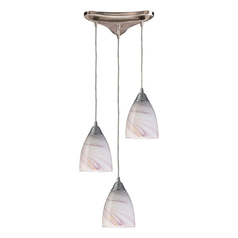 Pierra 3-Light Satin Nickel Pendant