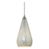 Curvalo 1-Light Satin Nickel Pendant