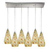 Curvalo 6-Light Satin Nickel Pendant