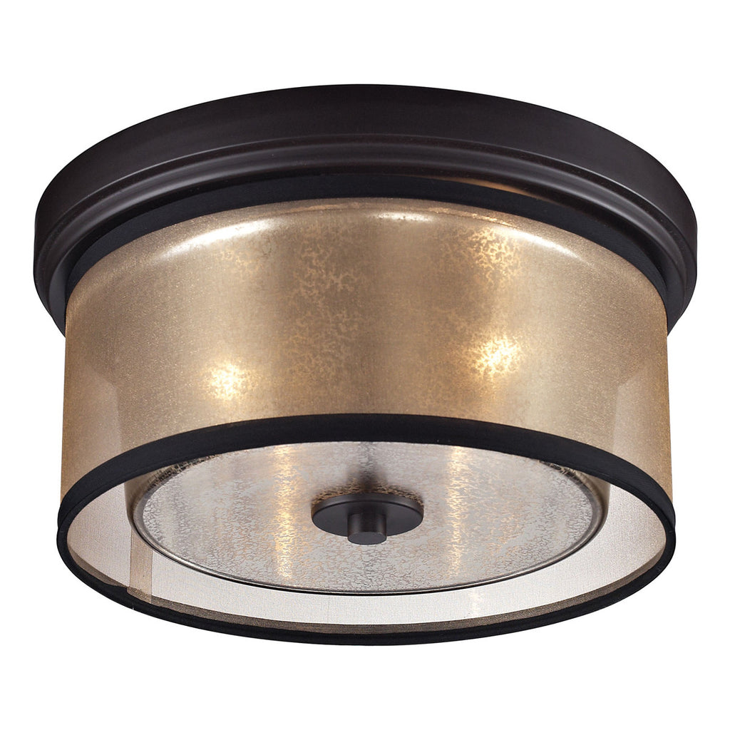 Diffusion 2-Light Flush Mount in Oil Rubbed Bronze