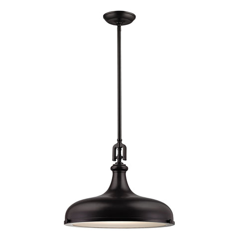 1-Light Rutherford Pendant in Oil Rubbed Bronze