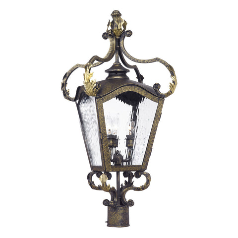Acadiana Outdoor Post Lantern in a Castle Bronze