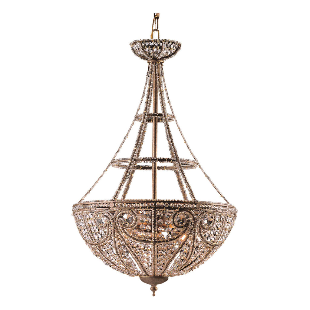 Elizabethan 4-Light Pendant in Dark Bronze