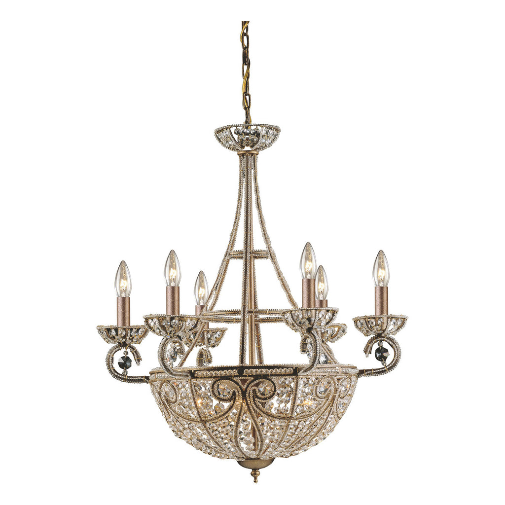 Elizabethan 1Chandelier in Dark Bronze