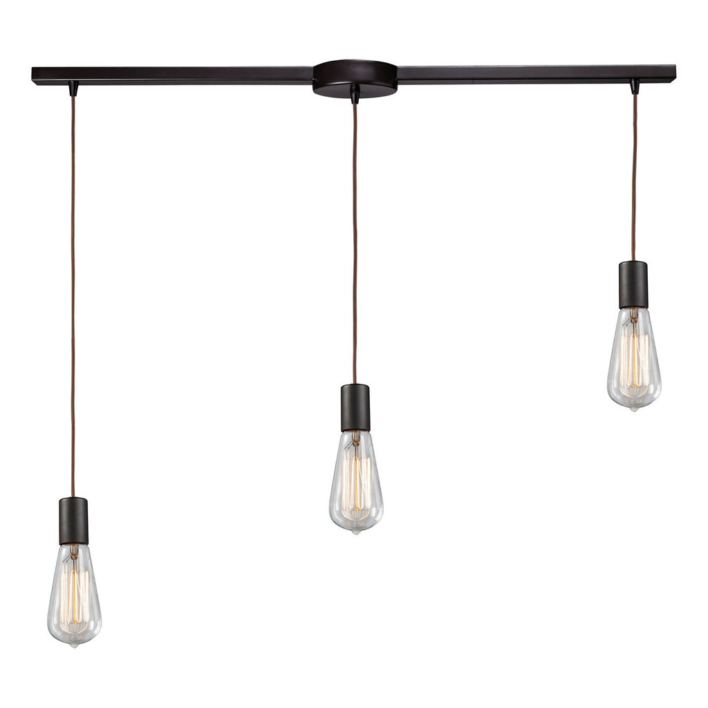 Menlow Park 3-Light Pendant in Oiled Bronze