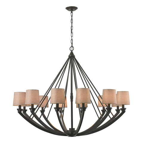 Morrison 12-Light Chandelier in Oil Rubbed Bronze