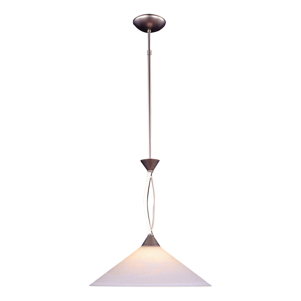 Elysburg 1-Light Satin Nickel Pendant