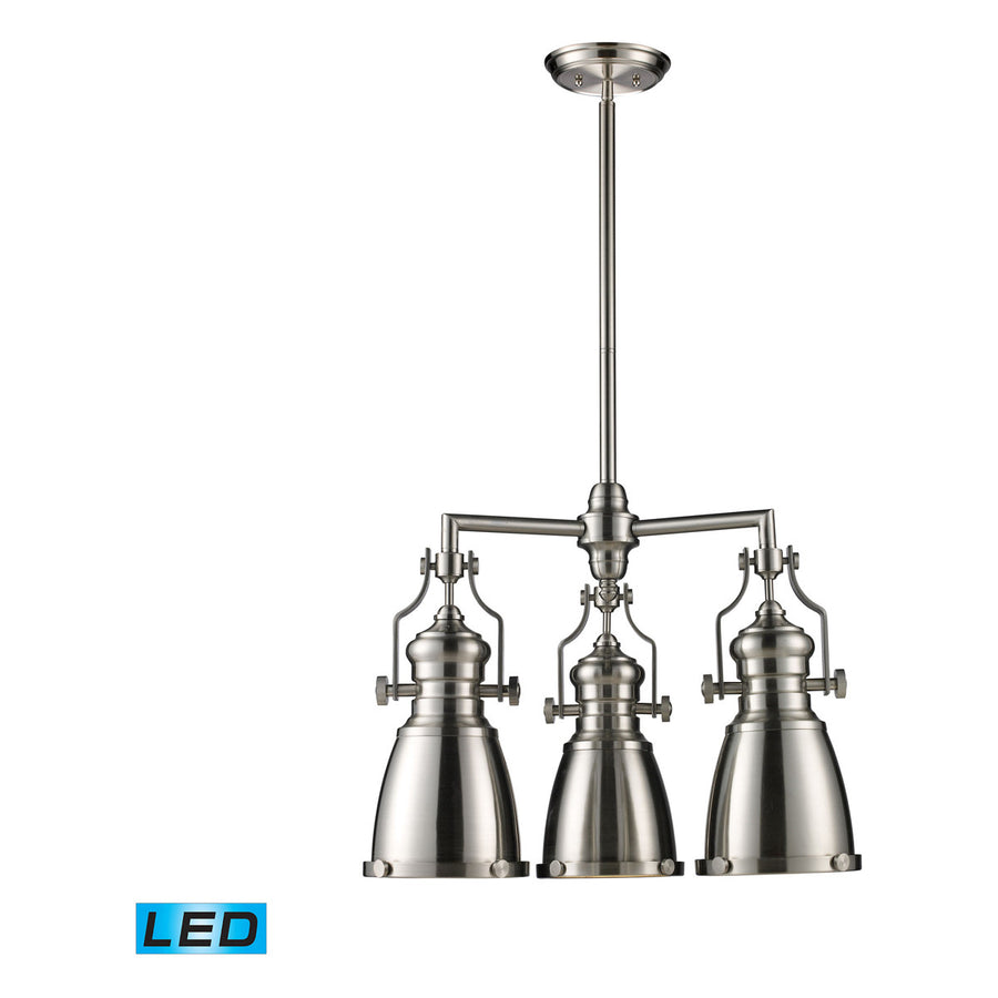 Chadwick 3-Light Satin Nickel Chandelier