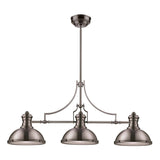 Chadwick 3-Light Satin Nickel Billiard/Island Light