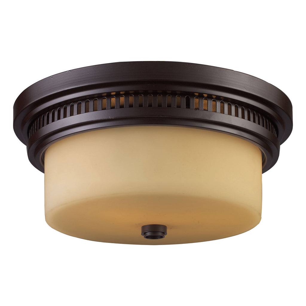 Chadwick 2-Light Oiled Bronze Flush Mount