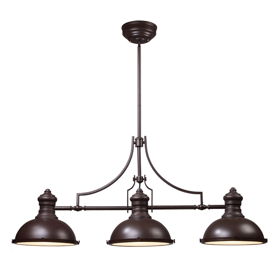 Chadwick 3-Light Oiled Bronze Billiard/Island Light
