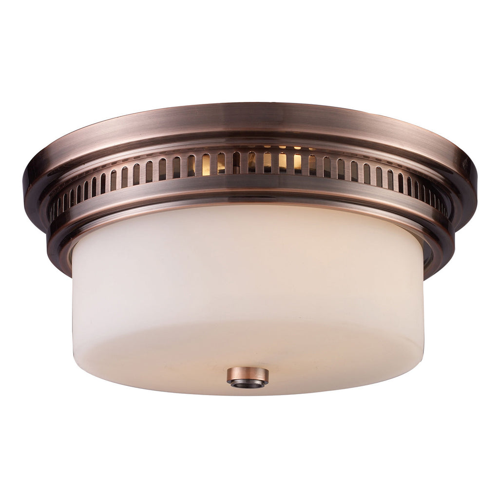 Chadwick 2-Light Antique Copper Flush Mount